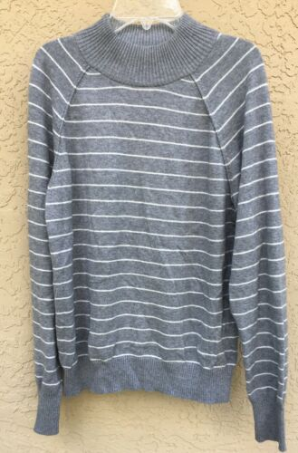 Orvis Mock Neck Womens Sweater Size M 10% Cashemer