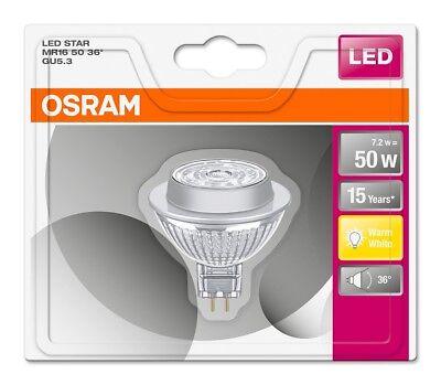 Osram LED Star MR16 50 36° GU5.3 Strahler Glas warmweiß 2700K wie 50W