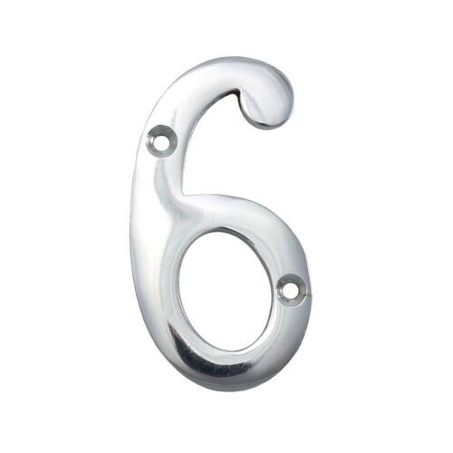 """3/""""//75mm Argent Grande Chrome Numéros Maison Porte Avant chiffres II"""