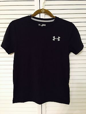 Under Armour Boys Charged Cotton Heather Polo Shirt Short Sleeve XL Graphite