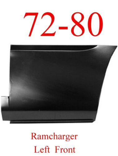 Patch Panel 1580-241 72 80 Dodge Ramcharger Left Front Lower Bed Panel