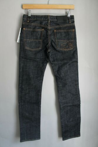 DC skate Ragazzi Bambini skinny di jeans denim blu scuro grezzo Skinny Fit Logo Stitch
