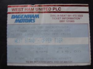WEST-HAM-UNITED-V-MANCHESTER-UNITED-26-02-1994-USED-TICKET-STUB