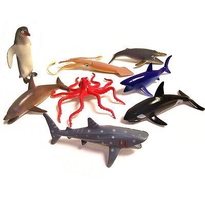 2019 Nuovo Stile Ocean World Sealife Plastic Toys Set - 8 Divertente Giocattolo Sealife Animali-mostra Il Titolo Originale Qualità E Quantità Assicurate