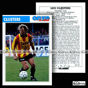 CLIJSTERS-LEO-FC-MALINES-Fiche-Football-Voetbal-1989