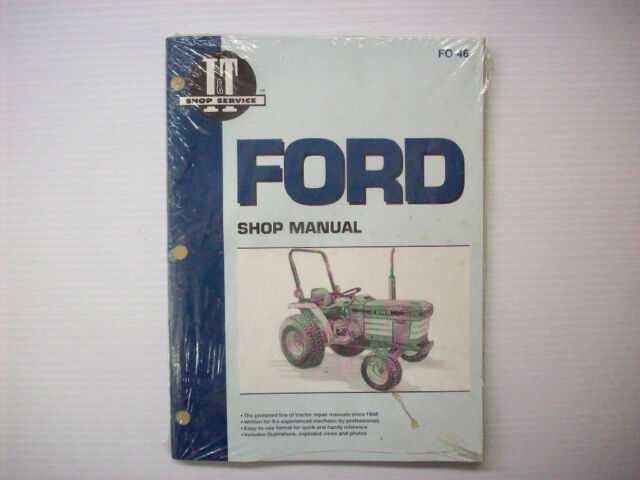 New  It Manual Ford 1120  1220  1320  1520  1720  1920