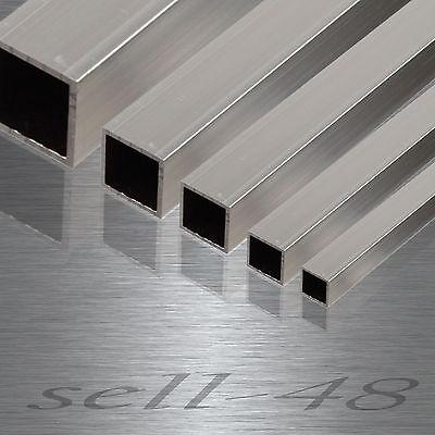 Aluminium Alu AlMgSi Aluminiumstange Vierkantrohr Quadratrohr nach Mass bis 2m