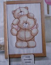 FOREVER FRIENDS TEDDY BEARS BEST OF FRIENDS ADORABLE SCENE CROSS STITCH CHART