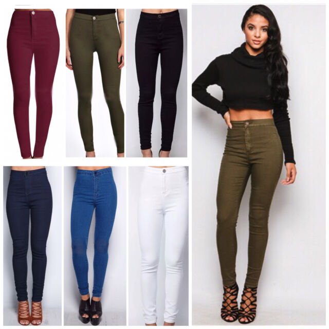 select for official where to buy various colors WOMEN'S LADIES GIRLS SUPER SKINNY HIGH WAIST JEANS Size  6-8-10-12-14-16-18-20-22
