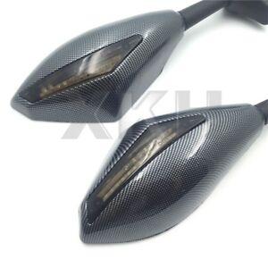 Carbon-Turn-Signal-Mirrors-w-Smoke-Lens-For-Honda-CBR600-F1-F2-F3-F4-F4i-CBR600