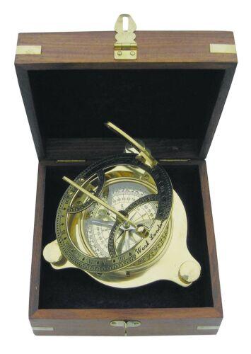 Sonnenuhr Kompass Messing Nautica Kompass und Sonnenuhr