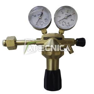 Riduttore-regolatore-di-pressione-gas-AZOTO-315bar-2-manometri-per-saldatura