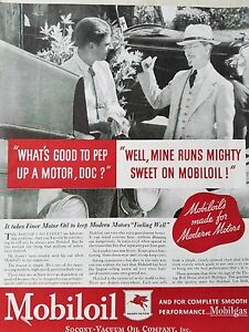 1934-Mobiloil-Pep-Up-A-Motor-Doc-Modern-Motors-Motor-Oil-Original-Ad