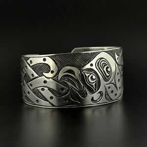 Image Is Loading Uni Octopus Cuff Bracelet Hand Engraved Sterling Oxidized