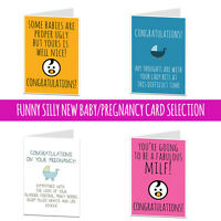 New Baby Pregnancy Congratulations Card Rude Cheeky Funny Humour Joke New Mum