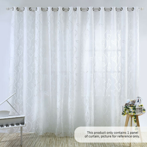 39 98 inches Polyester Semi-Blackout Grommet Top Window Curtain Panel X7K2