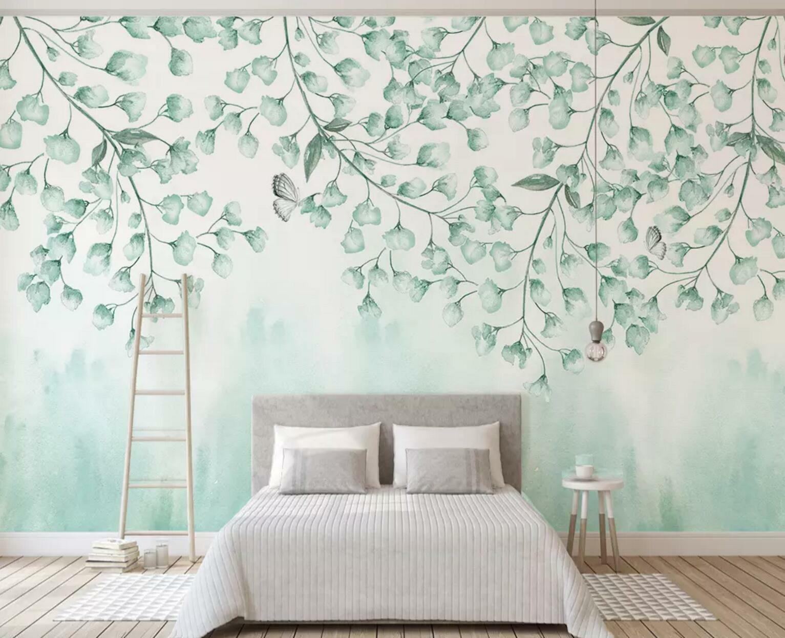 3D Leaf Painted 34 Wall Paper Exclusive MXY Wallpaper Mural Decal Indoor wall AJ
