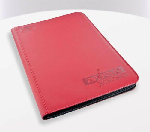 9-Pocket zipfolio xenoskin RED-carte fascicoli, ULTIMATE GUARD