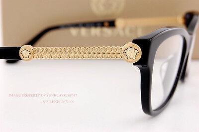 Brand New VERSACE Eyeglasses Frames 3214 GB1 BLACK Women 100% Authentic SZ 54