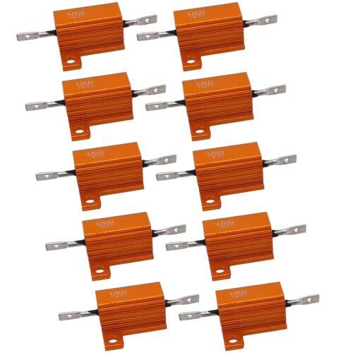 10 St 9 ohm 9R 10W Power Aluminium Widerstand Drahtwiderstand Aluminiumgehäuse