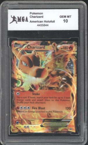 GO 29 2014 Pokemon Card Charizard HOLOGRAPHIC HOLO FOIL GRADED GEM MINT 10 RARE