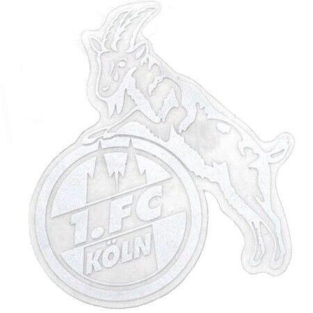 STICKER AUFKLEBER transparent (silber) 1. FC KÖLN  NEU