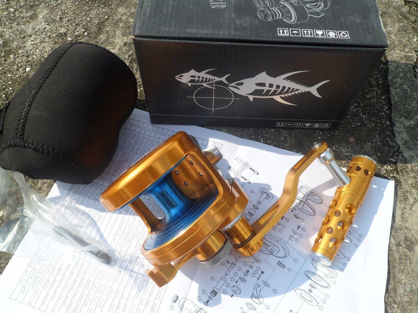 Saltwater Baitcasting Jigging Fishing Reel All Metal Manufacturing  10BB TB70  order now enjoy big discount