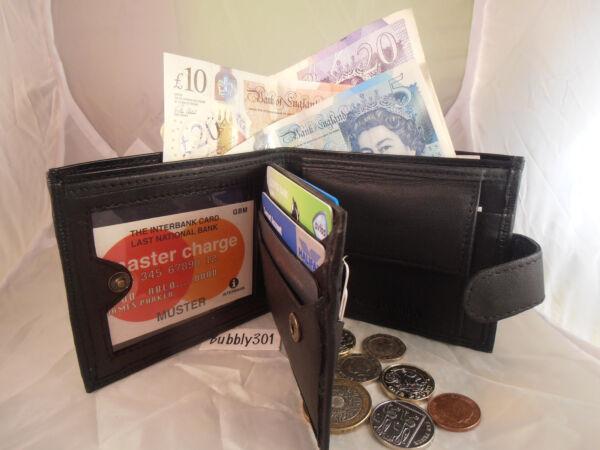 1170 Gents Mens Leather Wallet Nota Custodia Borsa Titolare Carte Di Credito Tasca Monete Prezzo Ragionevole