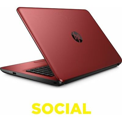 "HP 14-an062sa 14"" Laptop Red Windows 10 4 GB RAM 1 TB HDD Storage"