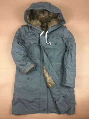 WW2 GERMAN ELITE ARMY MOUSE GREY FUR-LINED WINTER PARKA COAT SIZE S