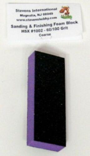 Hobby Stix 1002  60//100 Grit Coarse Sanding /& Finishing Foam Block