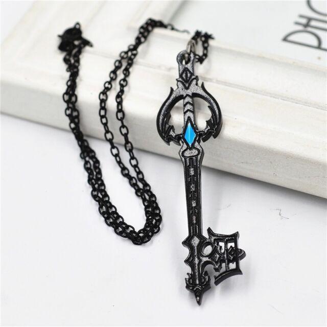 Kingdom Hearts Charm Bracelet: Anime Kingdom Hearts Oblivion Keyblade Black Metal Pendant