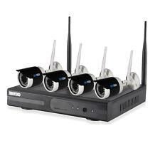WLAN HD Überwachungsset Videoüberwachung FUNK kabellos Fernzugriff IP Kamera IR