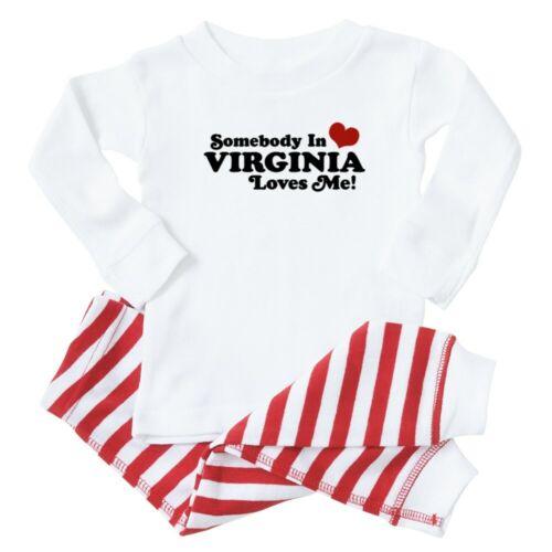 353480815 CafePress Somebody In Virginia Loves Me Toddler Pajama