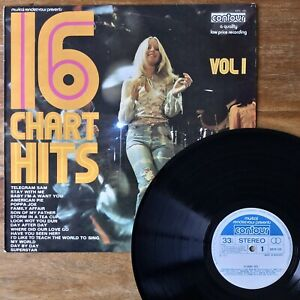 16-Chart-Hits-Vol-1-Contour-2870-159-1972-1st-UK-Press-Compilation-Vinyl
