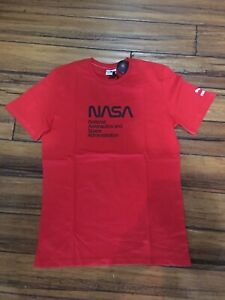 Details about PUMA X SPACE AGENCY COTTON T-SHIRT 597134 11 600 Red NASA
