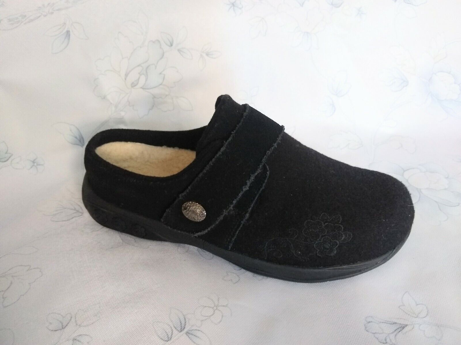 Therafit Women's Indoor/Outdoor Wool Clog Slipper, 6.5