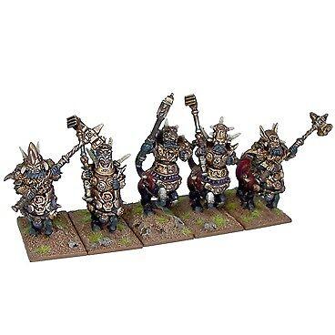 Kings of War  Abyssal Dwarf Half Breed Cavalry Mantic Games