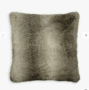 2-x-John-Lewis-Faux-Fur-Cushion-Cover-Mocha-Ombre