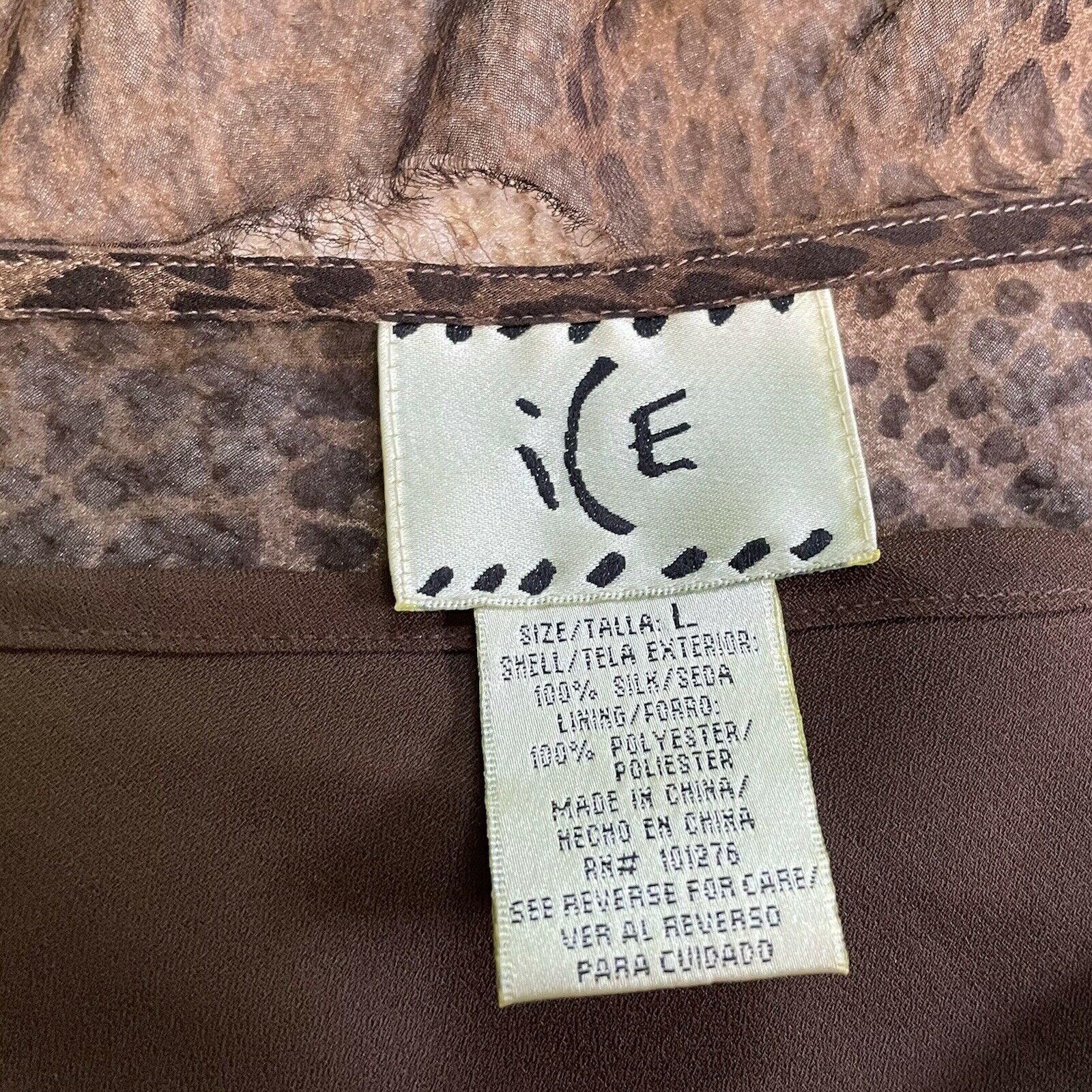 vintage y2k silk sheer ruffle grunge fairycore br… - image 6