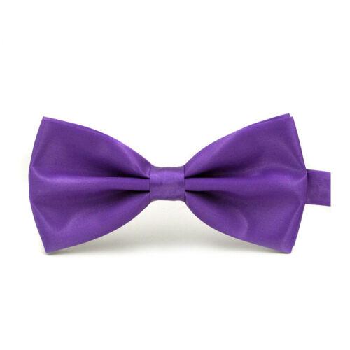 Classic Men Bow Tie Accessories Adjustable Satin Neckwear Neck Tie Multi-Color