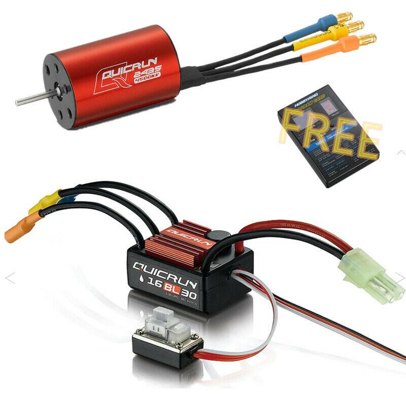 Hobbywing QUICRUN 16BL30 30A Brushless ESC Speed Controller + 2435 G2 Motor Kit