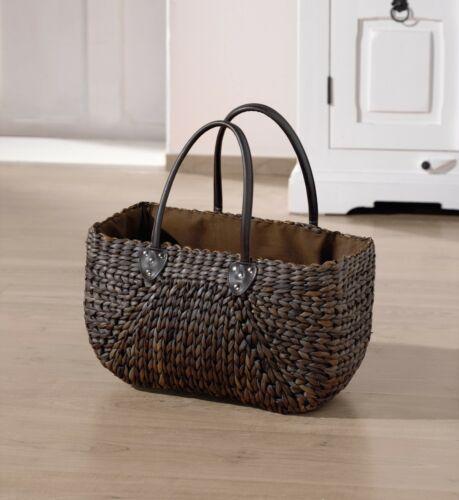 Damen Tasche aus Maisstroh mokka braun Umhänge Schulter Hand Stroh Korb Shopper