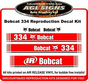 OBCAT 334 MINI DIGGER DECAL SET CNC, Metalworking & Manufacturing Business & Industrial