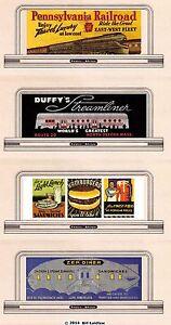 Billboard-signs-93-N-or-Z-scale-PRR-vintage-diners-amp-fast-food-HAMBURGERS