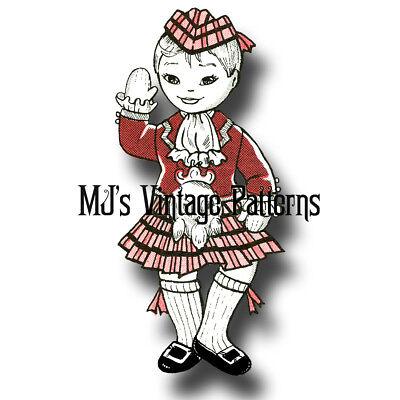Vintage SCOTLAND LADDIE Dutch Cloth Doll /& Outfit Pattern ~ International Doll