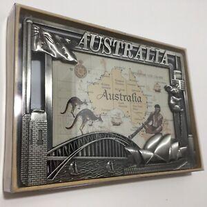 Rare-Pewter-Picture-Frame-Sydney-Australia-Sydney-Opera-House-Koala-Flag-15x10cm