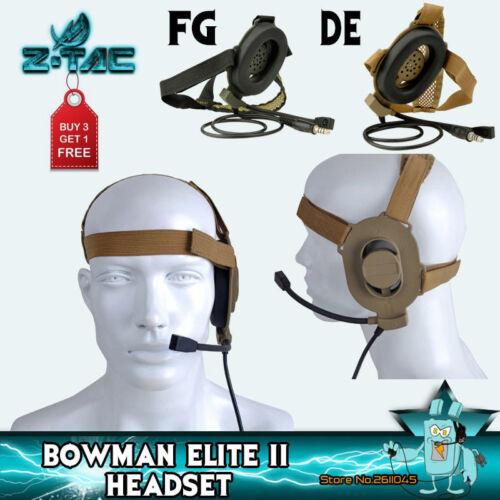 Z-TAC Tactical zBowman Elite 2 Earphone Military Communication For Kenwood//ICOM
