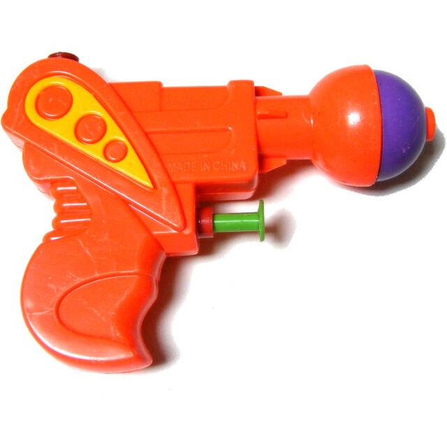 1 x Kinder klein mini Plastik Wasser Pistole Pistole Waffe - 13cm - Orange