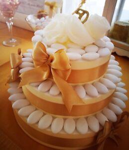 Dettagli Su Torta Decorativa Di Confetti X Confettata Nozze Oro 50 Anni Matrimonio Sposi